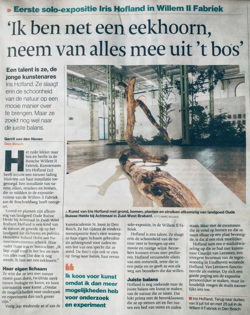 Uit het Brabants Dagblad, 9 juli 2016